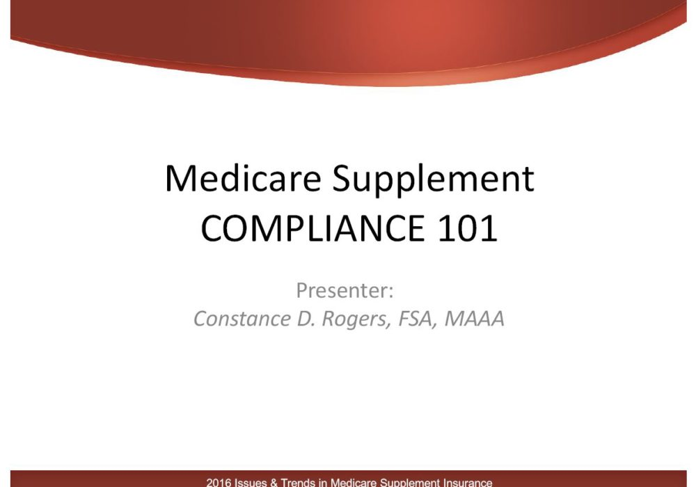 Medicare Supplement Compliance 101